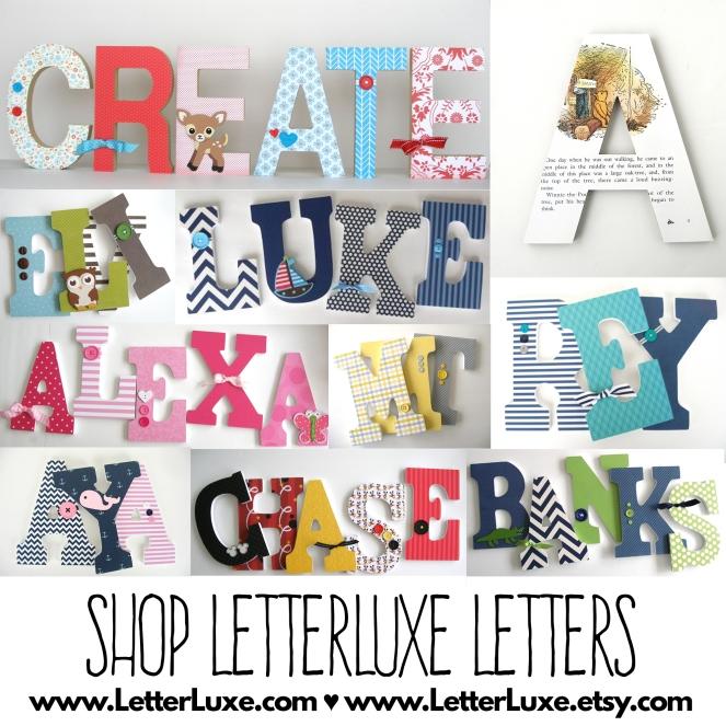 Shop LetterLuxe Nursery Letters Online
