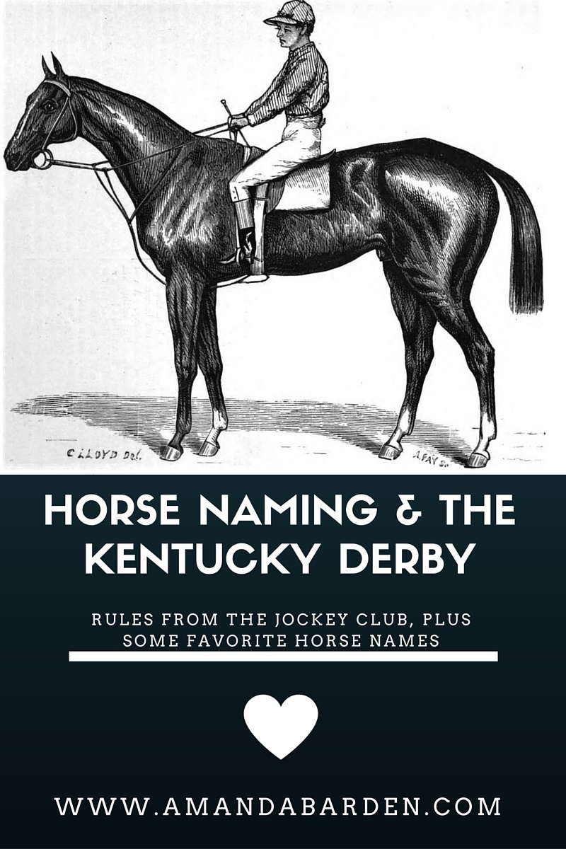 Horse naming & the Kentucky Derby
