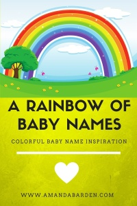 rainbow baby name ideas