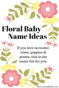 Floral Baby Name Ideas