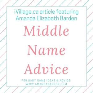 Middle Name Advice
