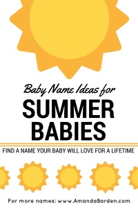 Name Ideas for Summer Babies