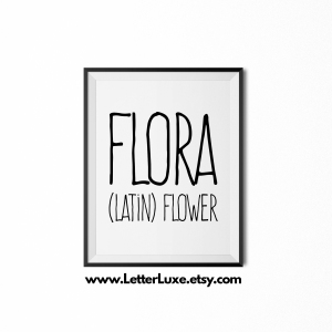 Flora Definition - Black Frame - Frente Font - Watermark