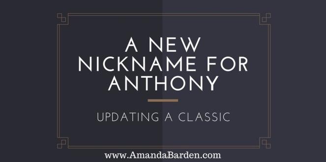 nickname-for-antony