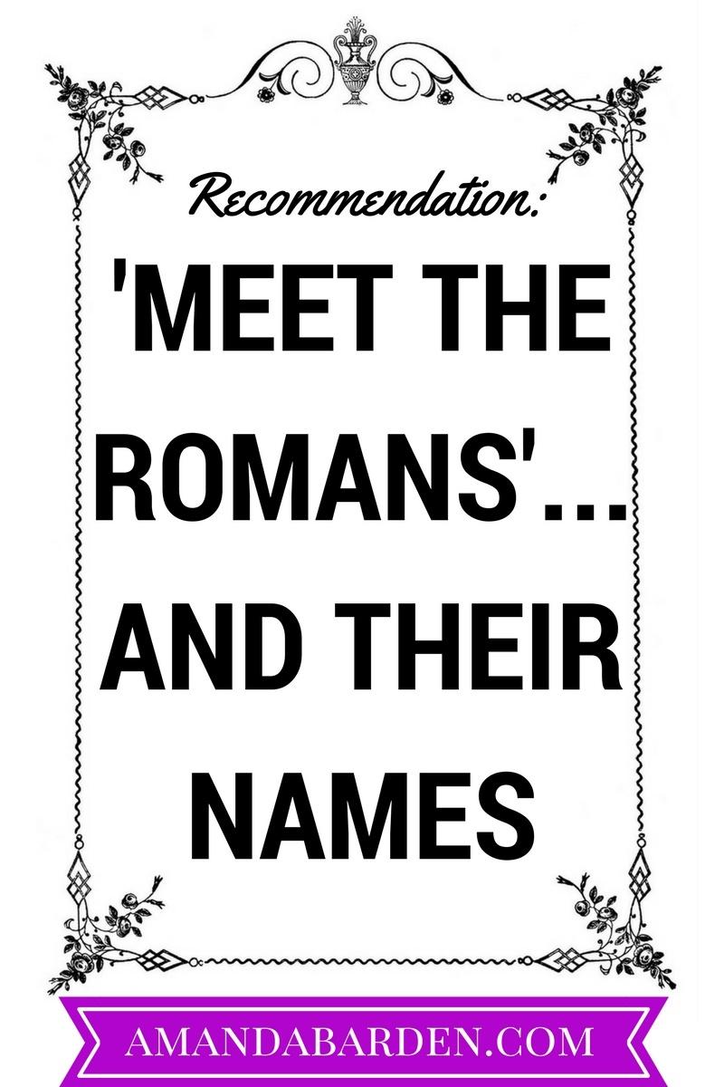 mary beard s meet the romans and their names amanda elizabeth barden